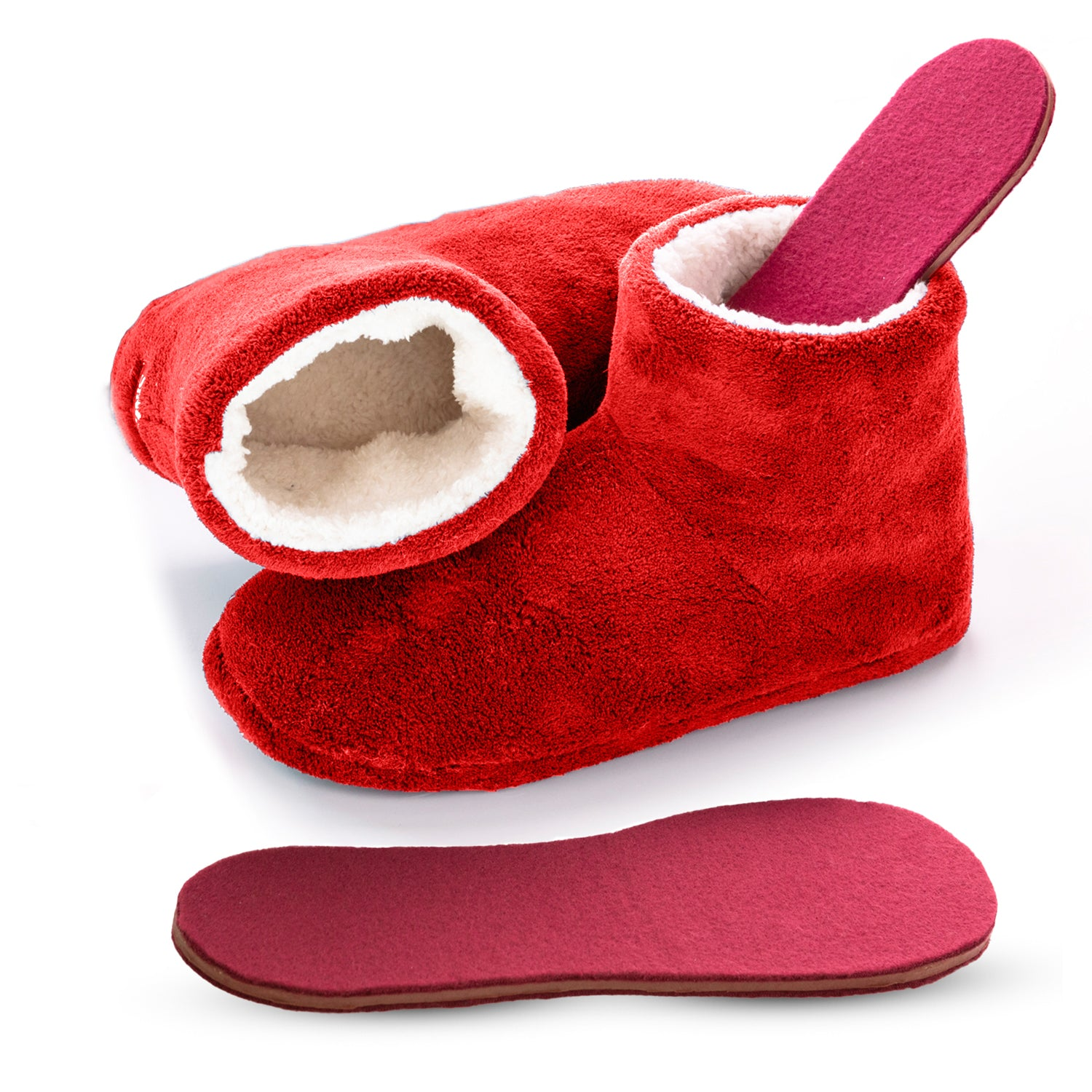 Booties with Heated Insoles