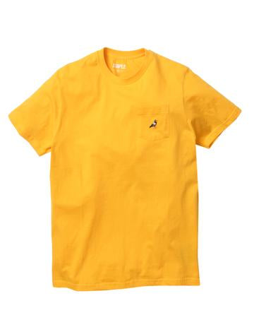 STAPLE PIGEON MINI POCKET LOGO TEE - MANGO