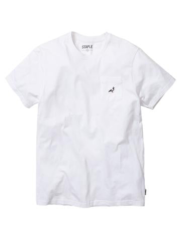 STAPLE PIGEON MINI POCKET LOGO TEE - WHITE