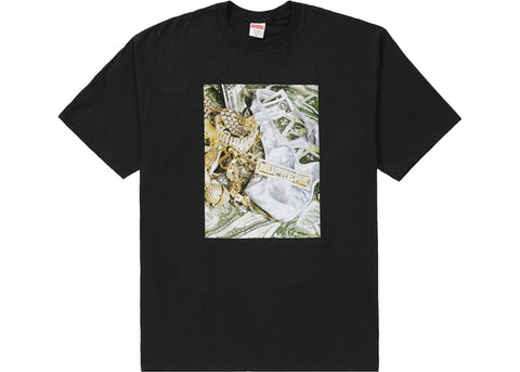 SUPREME BLING TEE - BLACK