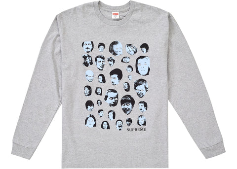 SUPREME FACES L/S TEE - GREY