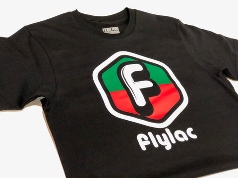 FLYLAC NEW CLASSIC TEE - BLACK