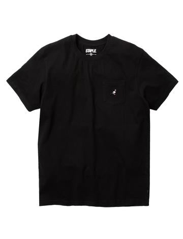 STAPLE PIGEON MINI POCKET LOGO TEE - BLACK