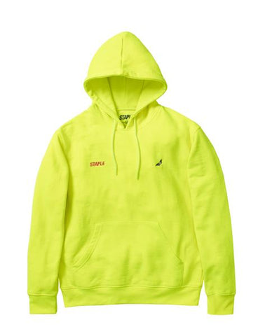 STAPLE PIGEON PIGEON ATHLETIC HOODIE- NEON YELLOW