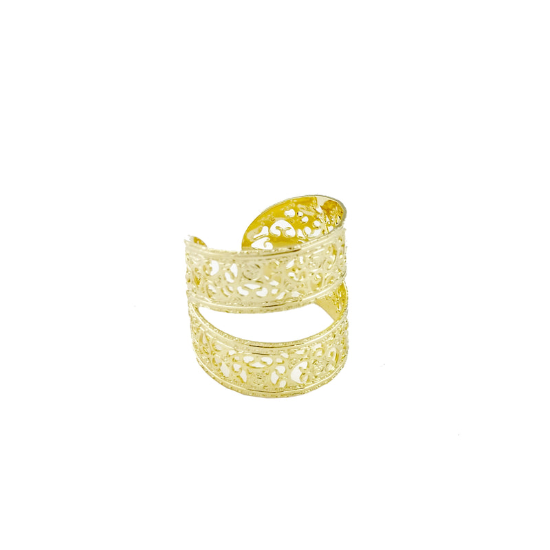 18KGL Melon Lines Ring