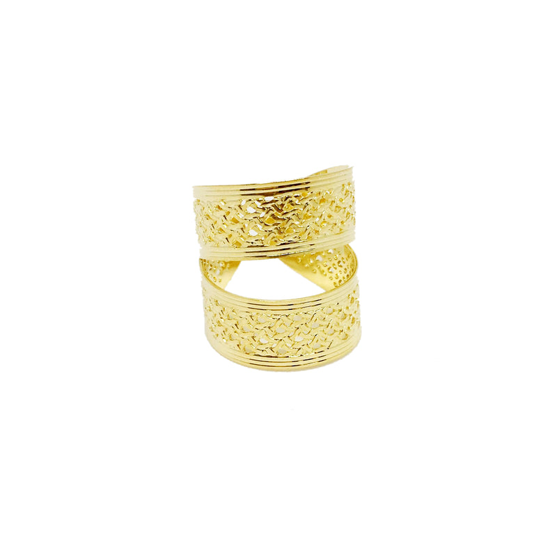 18KGL Open Stripes Ring