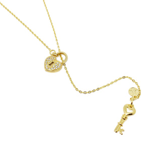 18K GL Lockheart Lariat Necklace