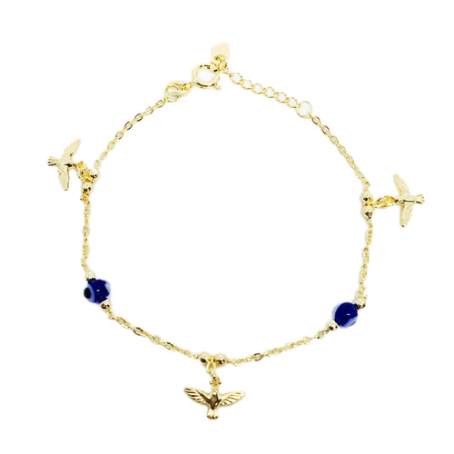 18KGL Evil Eye & Doves Bracelet