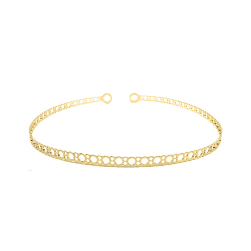 18KGL THIN CIRCLE CHOKER - Donna Italiana ®