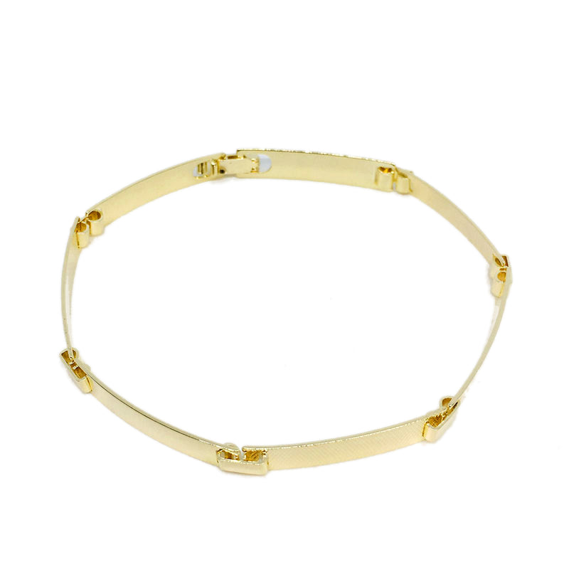 18K GL Linked Bar Bracelet