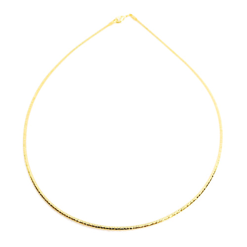 18KGL Cable Necklace Chain