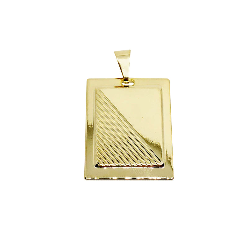 18kGL Fancy Plate pendant