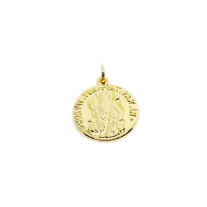 18K GL PAX  double sided Coin Pendant