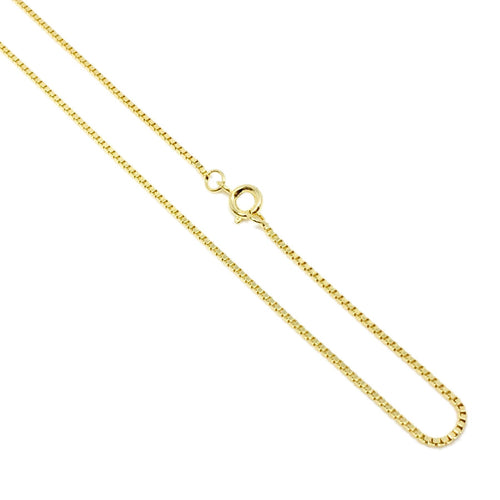 18K GL 1.2 mm Diamond Cut Box Chain - Donna Italiana ®
