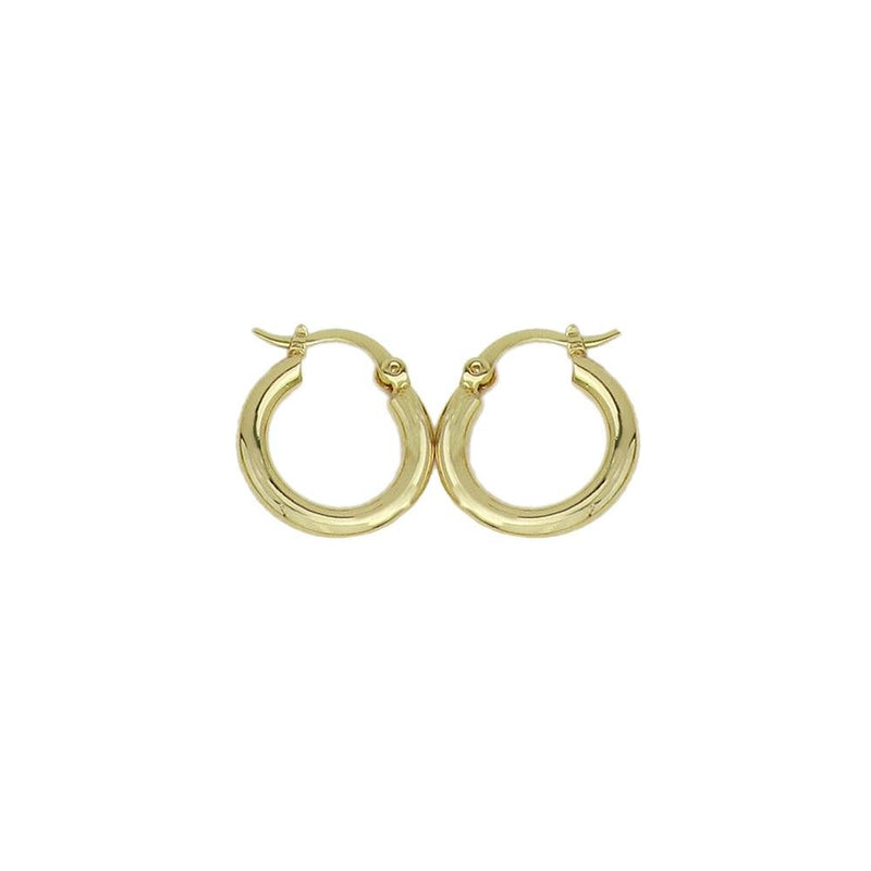 18K GL 15mm Polished Hoop - Donna Italiana ®