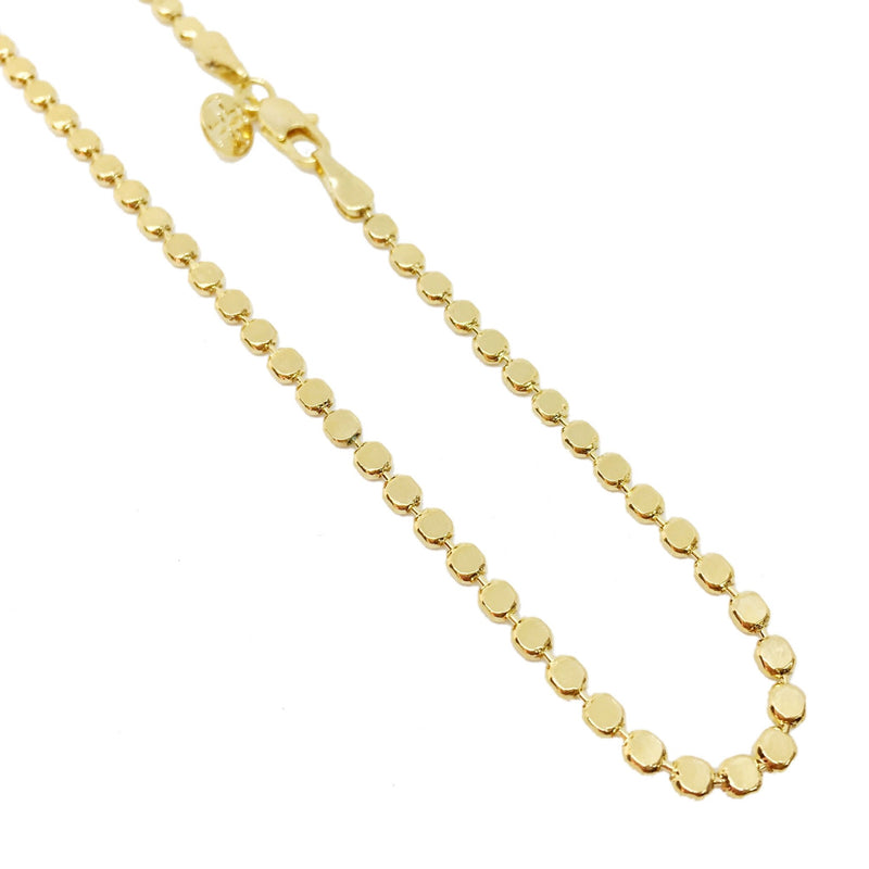 18K GL 2mm Flat Ball Chain - Donna Italiana ®