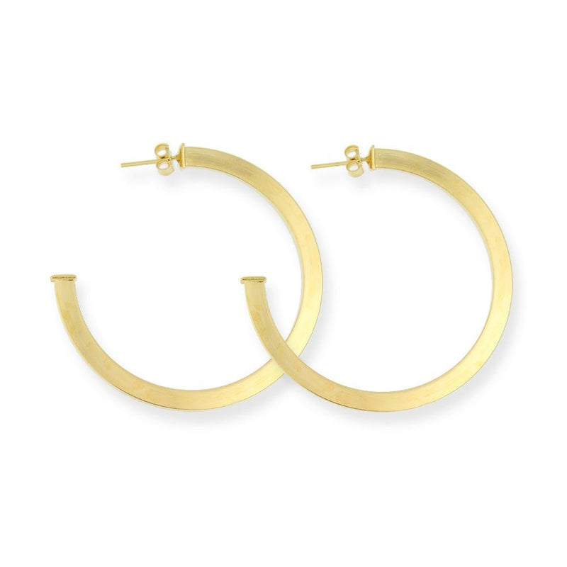 18K GL 3/4 Hoop Earring Snap Post - Donna Italiana ®