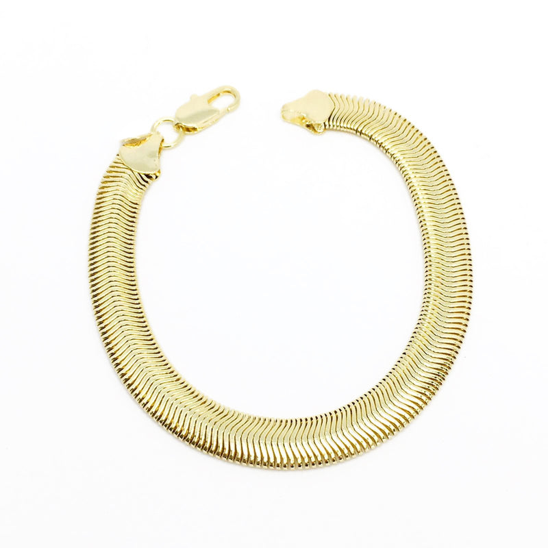 18K GL 8mm Snake Chain - Donna Italiana ®