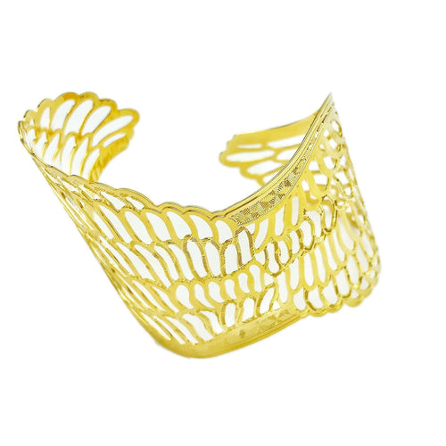 18k GL Angel Wings Cuff - Donna Italiana ®