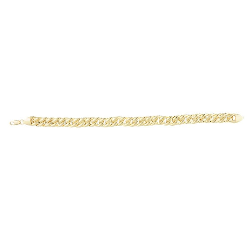 18k GL Bracelet Light Cuban - Donna Italiana ®