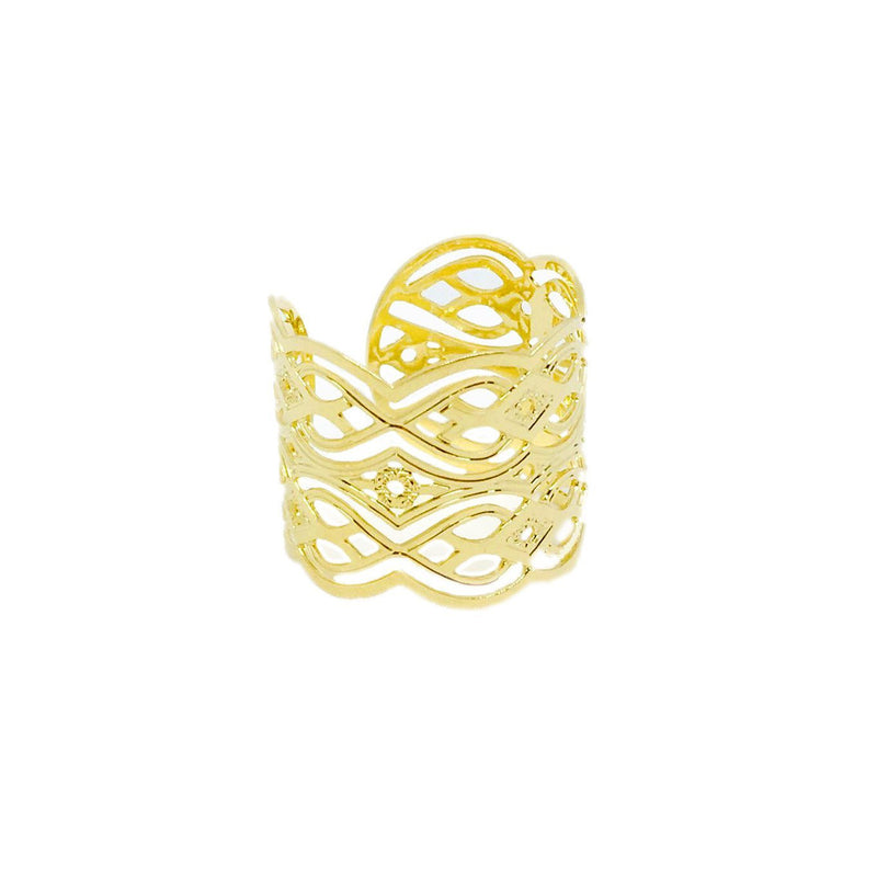 18k GL Casa Blanca Adjustable Ring - Donna Italiana ®