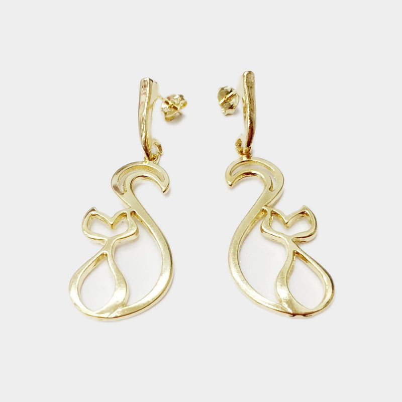 18k GL Cat Earrings - Donna Italiana ®
