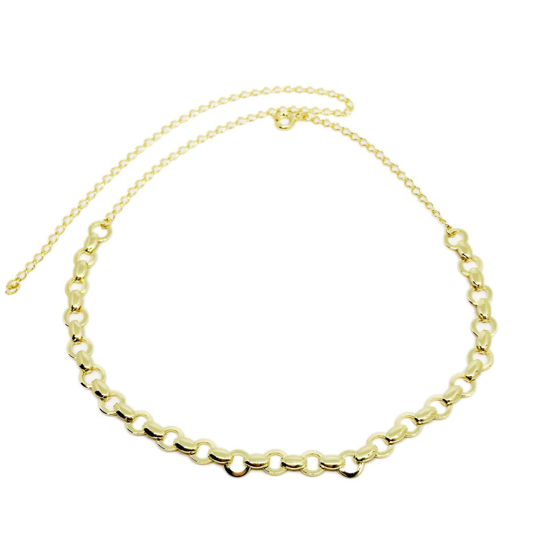 18k GL Circles Choker Necklace - Donna Italiana ®