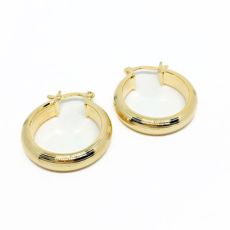18k GL Classic Hoop Earrings - Donna Italiana ®