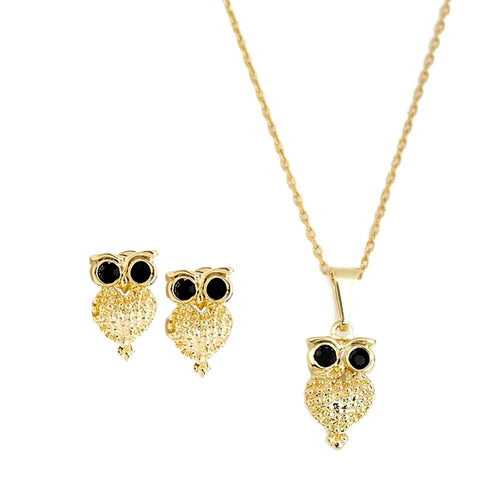 18K GL Crystal OWL Set - Donna Italiana ®