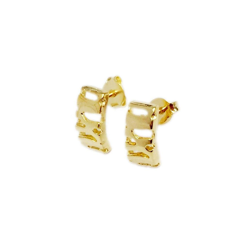 18k GL Curve Designed Earrings - Donna Italiana ®