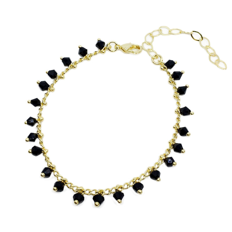 18k GL Dangling Beads Bracelet - Donna Italiana ®