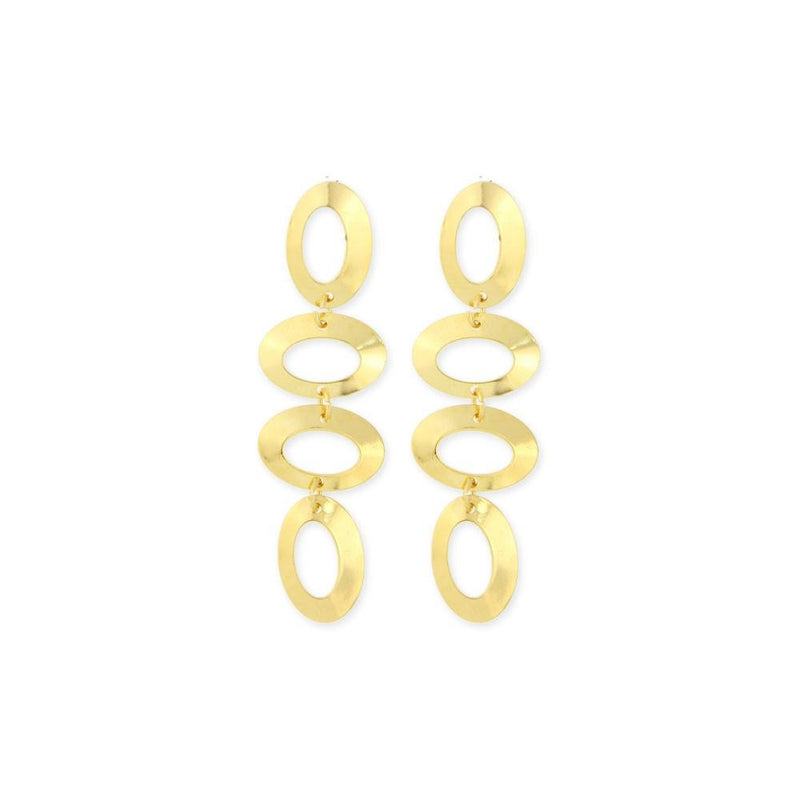 18k GL Dangling Oval Earrings - Donna Italiana ®