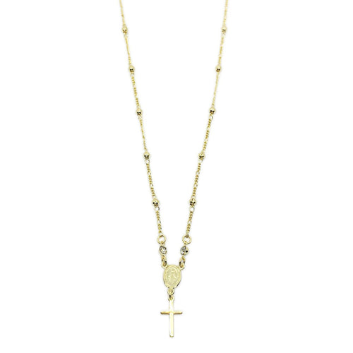 18k GL Delicate Rosary Necklace - Donna Italiana ®