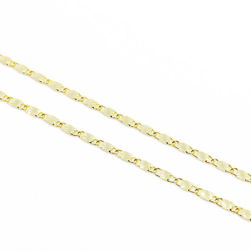 18k Gl Diamond Cut Detailed Chain - Donna Italiana ®