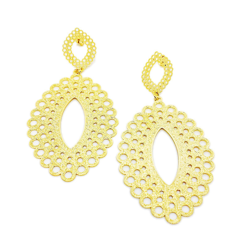18K GL Ellipse Firenze Earrings - Donna Italiana ®