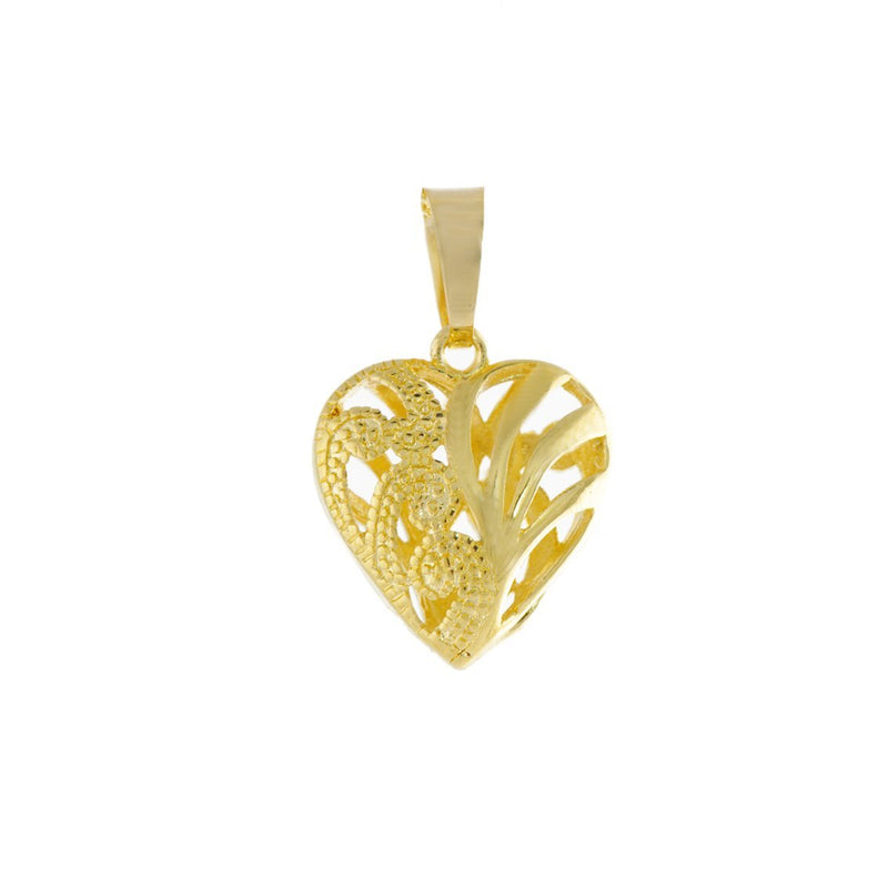 18k GL Heart Designed Pendant - Donna Italiana ®