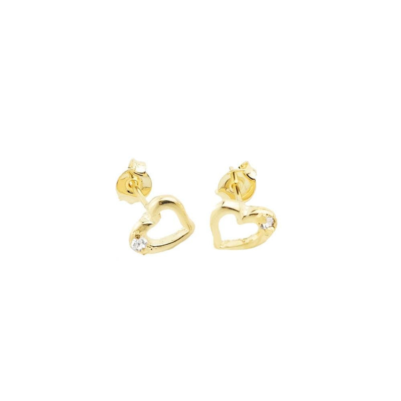 18k GL Heart Earrings - Donna Italiana ®