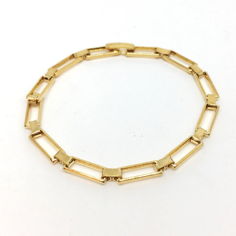 18k GL Hollowed Links Bracelet - Donna Italiana ®