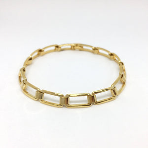 18k GL Hollowed Squares Wide Bracelet