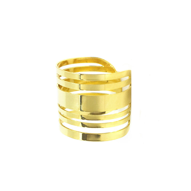 18k GL Joyful Lines Ring - Donna Italiana ®