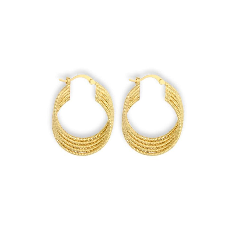 18K GL Layered Hoop - Donna Italiana ®