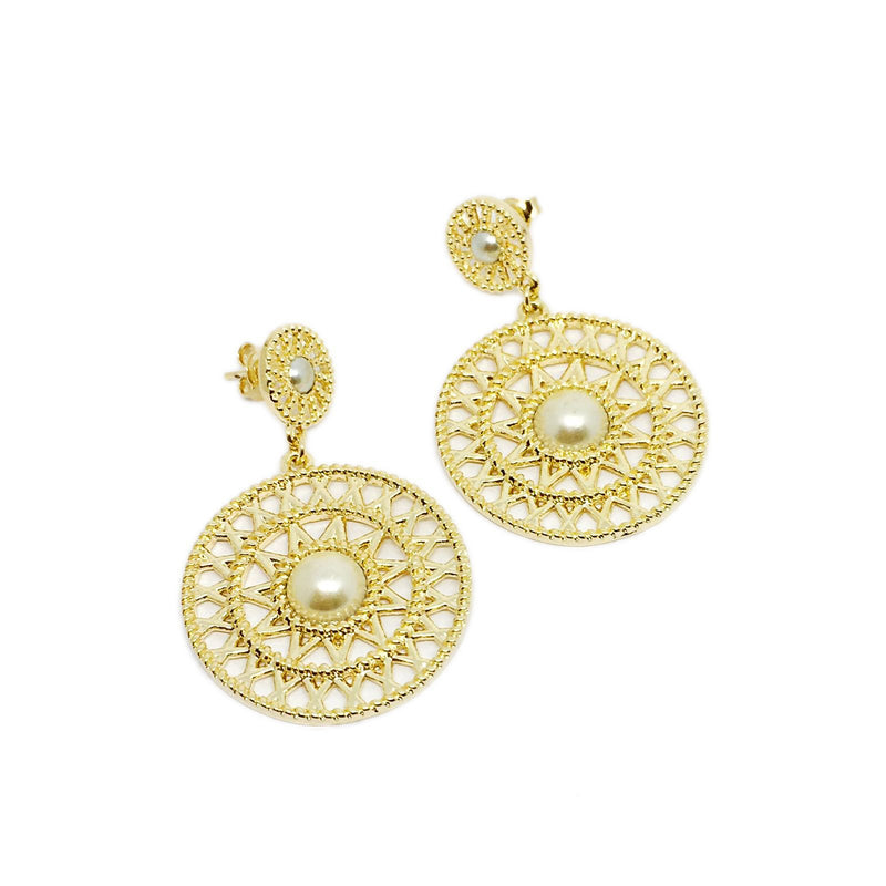 18k GL Pearl Dream Catcher Earrings - Donna Italiana ®