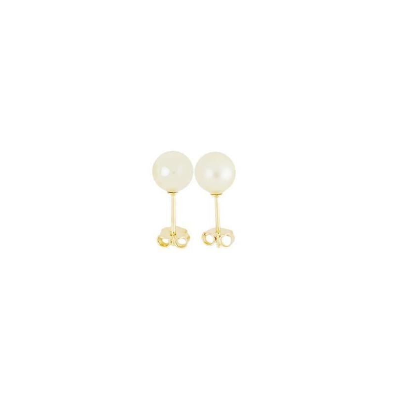 18k GL PEARL EARRINGS 8MM - Donna Italiana ®