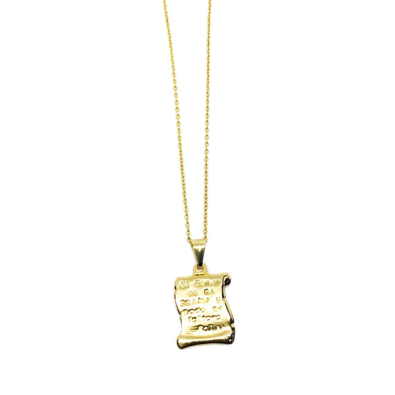 18k GL Psalm 23 Necklace - Donna Italiana ®