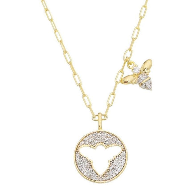 18K GL Queen B Necklace - Donna Italiana ®