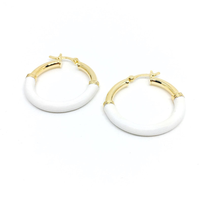 18k GL Resin Detail Hoop - Donna Italiana ®