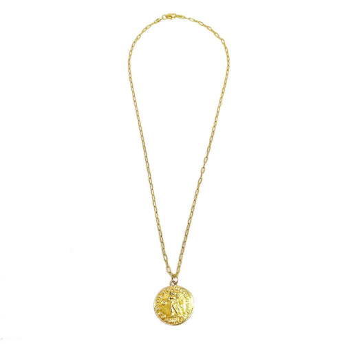 18K GL ROMAN NECKLACE - Donna Italiana ®