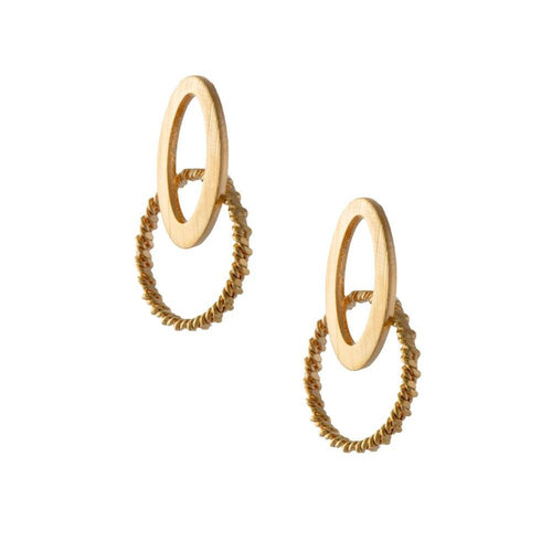 18k GL Rose Earrings - Donna Italiana ®
