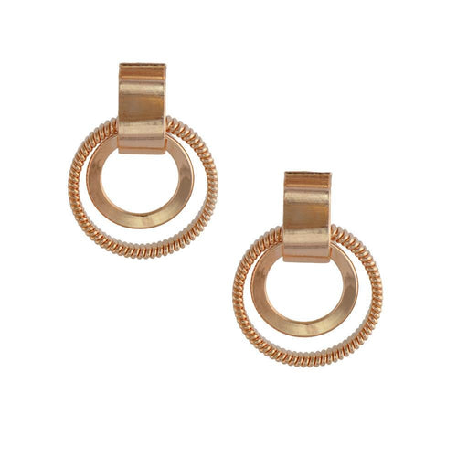 18k GL Rose Gold Hoop Earring - Donna Italiana ®