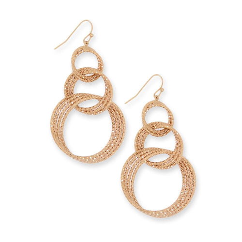 18k GL Rose Gold Hoop Earrings - Donna Italiana ®